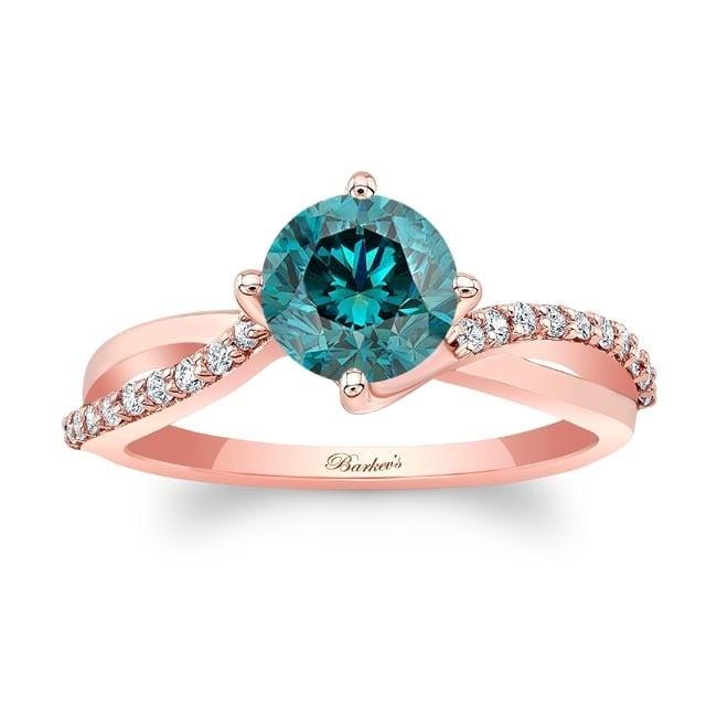 Barkev's Rose Gold Blue Diamond Engagement Ring