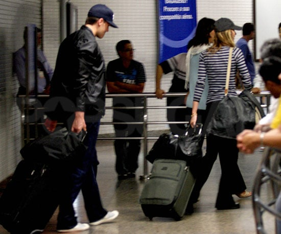 Photo of Tom Brady and Gisele Bundchen at the Sao Paolo Airport