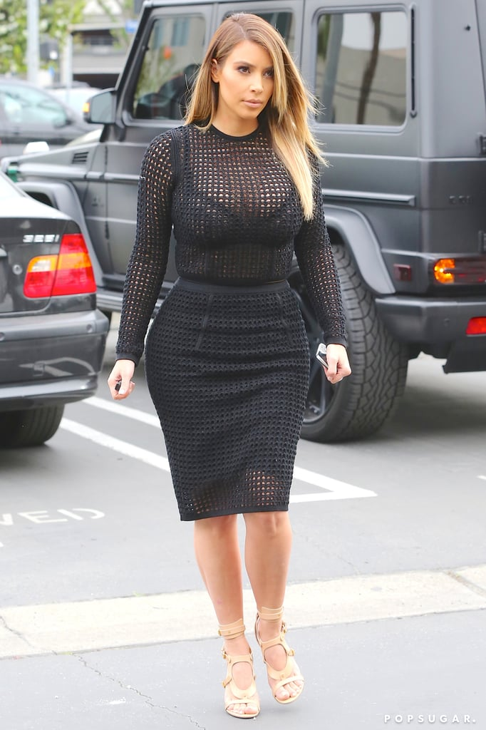 Kim Kardashian Leaves Little to the Imagination