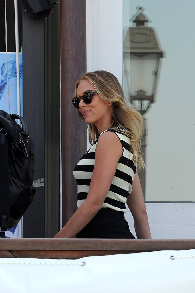 Scarlett Johansson arrived in Venice.