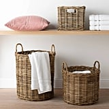 Decorative Round Rattan Basket