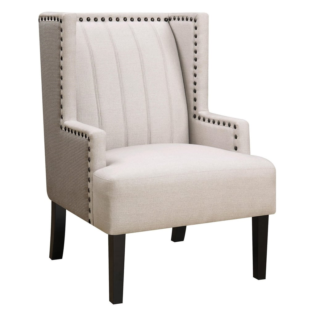 Coaster Furniture White Upholstered Indoor Accent Chair