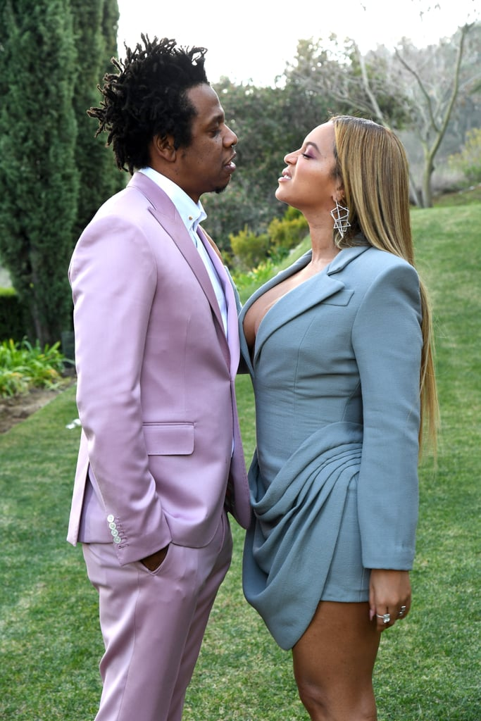 "Roc Nation's annual pre-Grammys brunch is quickly becoming as glamorous, star-studded, and highly anticipated as the award show itself. It also typically ensures an appearance from Beyoncé and JAY-Z, and sure enough, the power couple attended the Los Angeles event on Saturday looking spiffy in complementary suits.  It seems as though the entire music industry was in attendance, including Rihanna, Megan Thee Stallion, Miguel, Dua Lipa, and Kelly Rowland. Several artists up for Grammys this year were also at the brunch, including the Jonas Brothers, Lana Del Rey, 21 Savage, and James Blake.  The always-welcome appearance from Beyoncé and JAY-Z comes just a few weeks after they sipped Champagne with Reese Witherspoon and Jennifer Aniston at the Golden Globes — Champagne that, it's important to add, they brought from home. It's possible that the two will pop up again at the Grammys, because Beyoncé's Lion King song ""Spirit"" is nominated for best pop solo performance, but it's of course hard to know for certain. At least we'll always have the Roc Nation brunch.       Related:                                                                                                           Ella Mai, Tinashe, and Saweetie Stun at a Grammys Preparty — See Who Else Attended!"