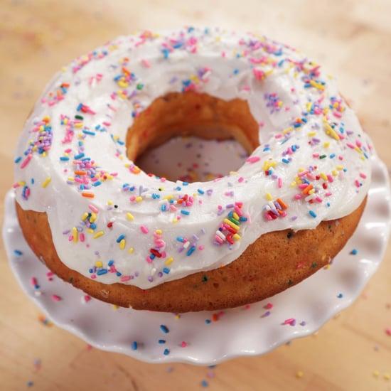 Giant Funfetti Doughnut