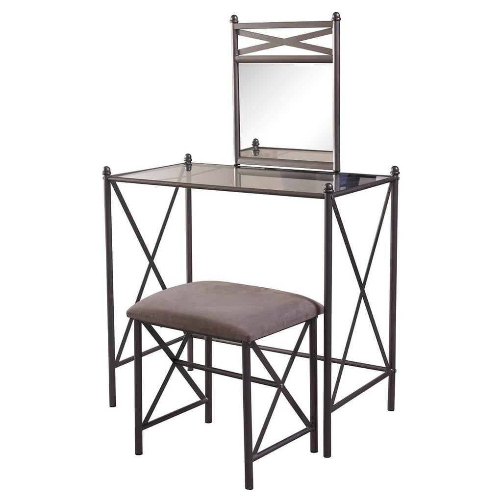 Roundhill Furniture Ashley Wood Vanity Table And Stool Set | Cheap Vanities  | POPSUGAR Home Photo 6