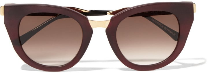 Thierry Lasry Snobby Cat-Eye Matte-Acetate and Metal Sunglasses ($510)