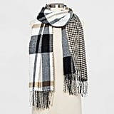 Striped Woven Reversible Oblong Scarf