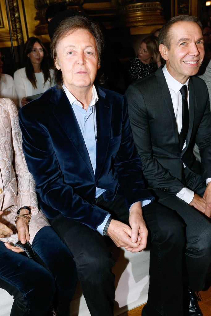 On Monday, Paul McCartney sat with Jeff Koons at his daughter Stella McCartney's show.