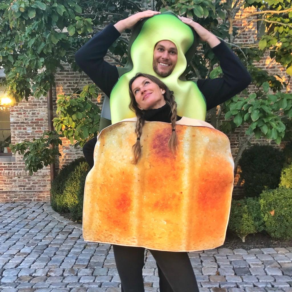 Gisele Bündchen and Tom Brady as Avacado and Toast