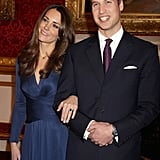 Fast-forward five years, one breakup, and one trip to Kenya, and William presented Kate with one of the most famous pieces of jewelry in the world: his late mother's 12-carat Ceylon sapphire engagement ring. The stone is surrounded by 14 diamonds and set in 18-carat white gold.