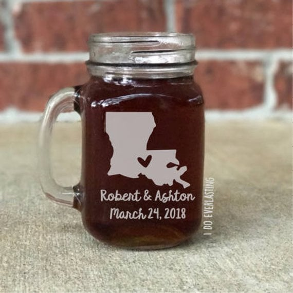 State Mason Jar Glass