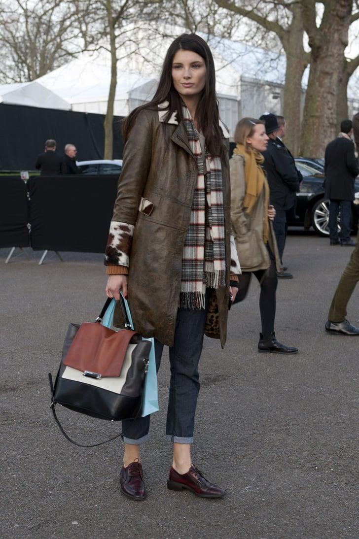 London Fashion Week Street Style Fall 2013 Street Style