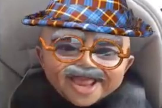 Saint West Using The Old Man Snapchat Filter Is Truly The Cutest Thing