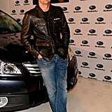 Patrick Dempsey is partial to jeans and leather jackets. I have a feeling it's the race car driver in him.