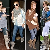 We're loving Kate Hudson's fringed boots. Fall's the perfect time to work them into your own wardrobe.