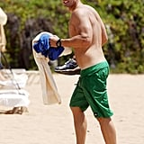 Cougar Town's Josh Hopkins went to Hawaii in June 2012.