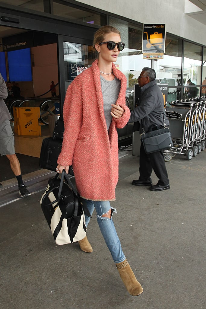 Rosie Huntington-Whiteley proved all you need is a great jacket to turn your outfit into an instant style winner.