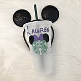 Minnie Mouse Ears Personalized Iced Coffee Cup