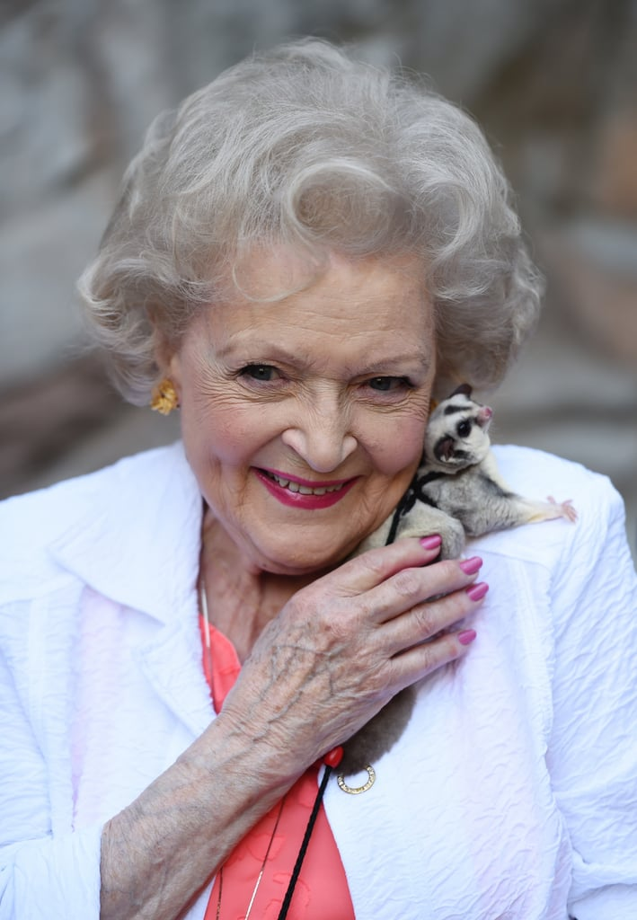 During a Trip to a Zoo in 2015, Betty White Matched Her Nails to Her Lips