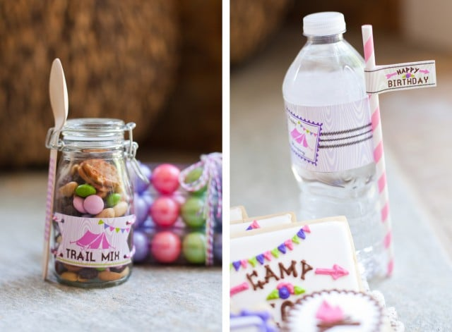 Trail Mix and Personalized Water Bottles