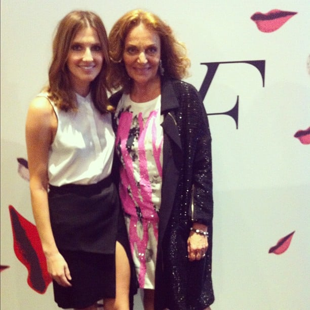 Kate Waterhouse hung out with the incredible Diane von Furstenberg. Source: Instagram user katewaterhouse7