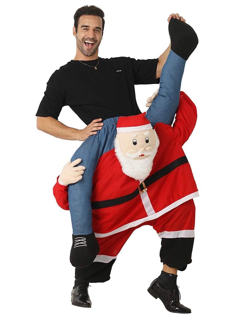 Santa Costume Adult Carry Me Santa Claus Ride on Christmas Mascot Pants