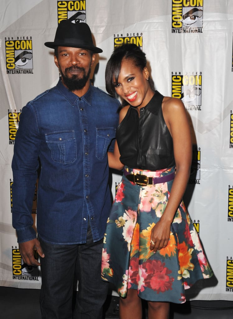 At the 2012 convention, Jamie Foxx and Kerry Washington linked up to promote their film Django Unchained.