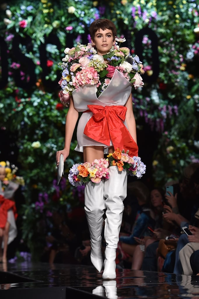 For the Finale, She Was Practically Transformed Into a Bouquet of Flowers With White Mod Boots