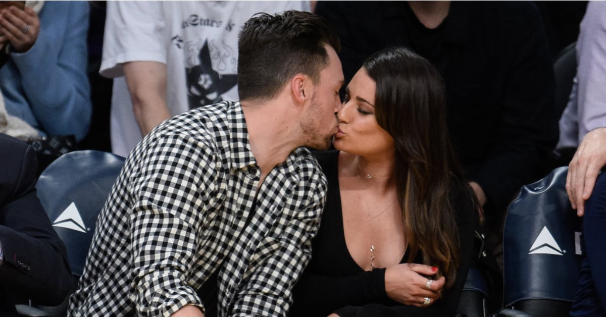 Lea Michele and Matthew Paetz at Lakers Game January 2016 | POPSUGAR ...