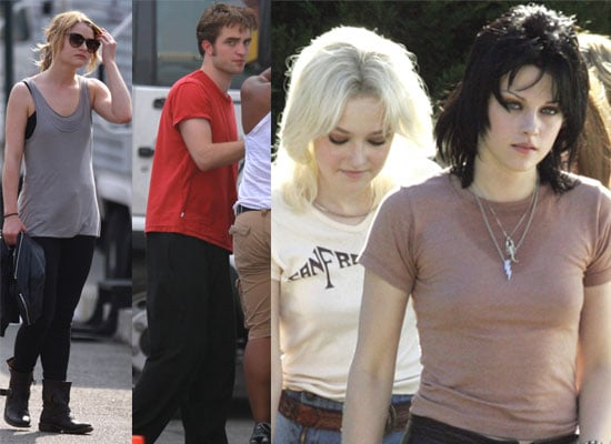 Robert Pattinson Filming Remember Me and Kristen Stewart Filming The Runaways Before Heading To Comic-Con