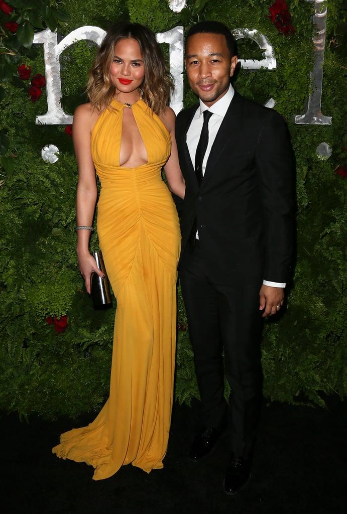 Chrissy Teigen and John Legend at Nielsen's Pre-Grammys Party