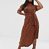 ASOS DESIGN Curve Printed Midi Dress