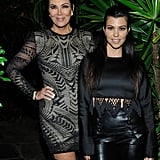 Kris Jenner stunned in a printed long-sleeved minidress that she played up with black Givenchy over-the-knee boots. Talk about sexy, Kris! Keep scrolling to see how she almost one-upped her daughters.