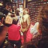 PopSugar snapped this picture of Shia LaBeouf at the Lawless premiere in New York. Source: Instagram user popsugar