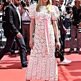 Chloë Sevigny wore a lacy frock to the Paterson premiere.