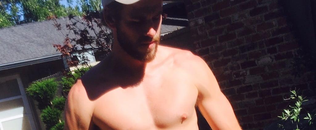 Liam Hemsworth Wearing Short Shorts July 2017