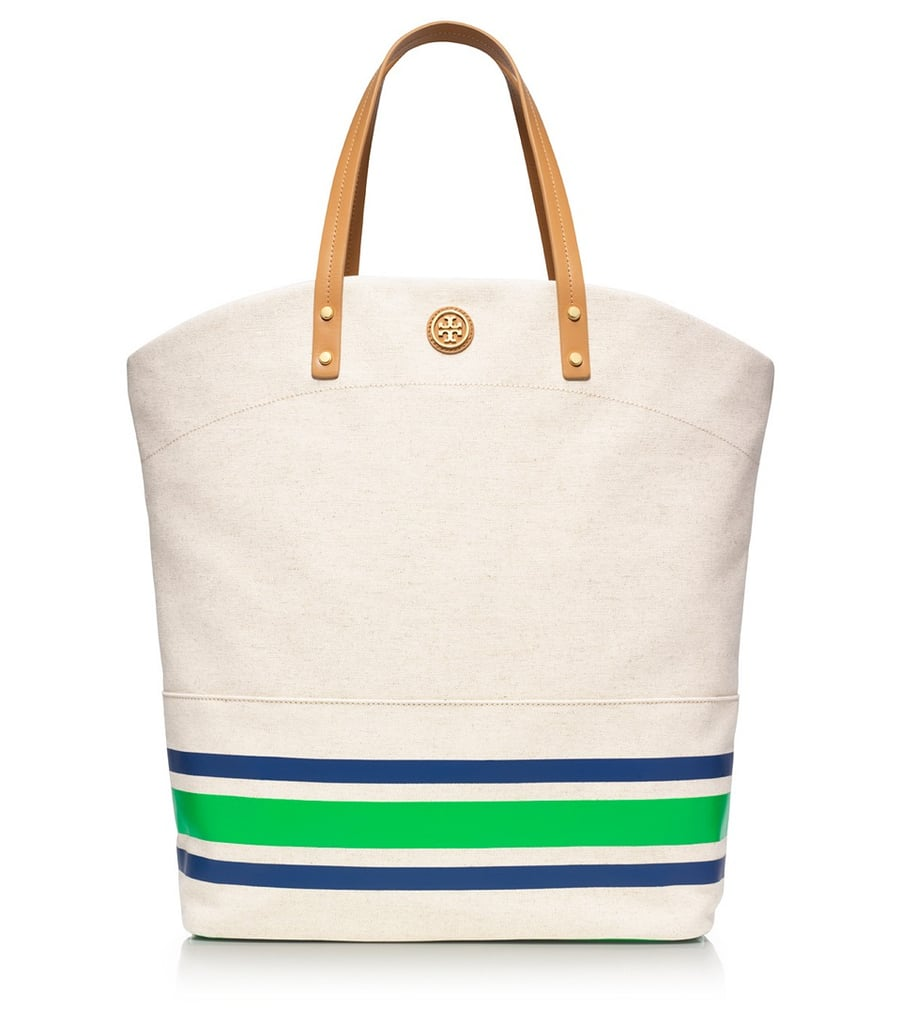 "Tory Burch's Theresa Tall Tote ($295) is the perfect ""errand"" bag, ideal for trips to the farmers market and running around town."