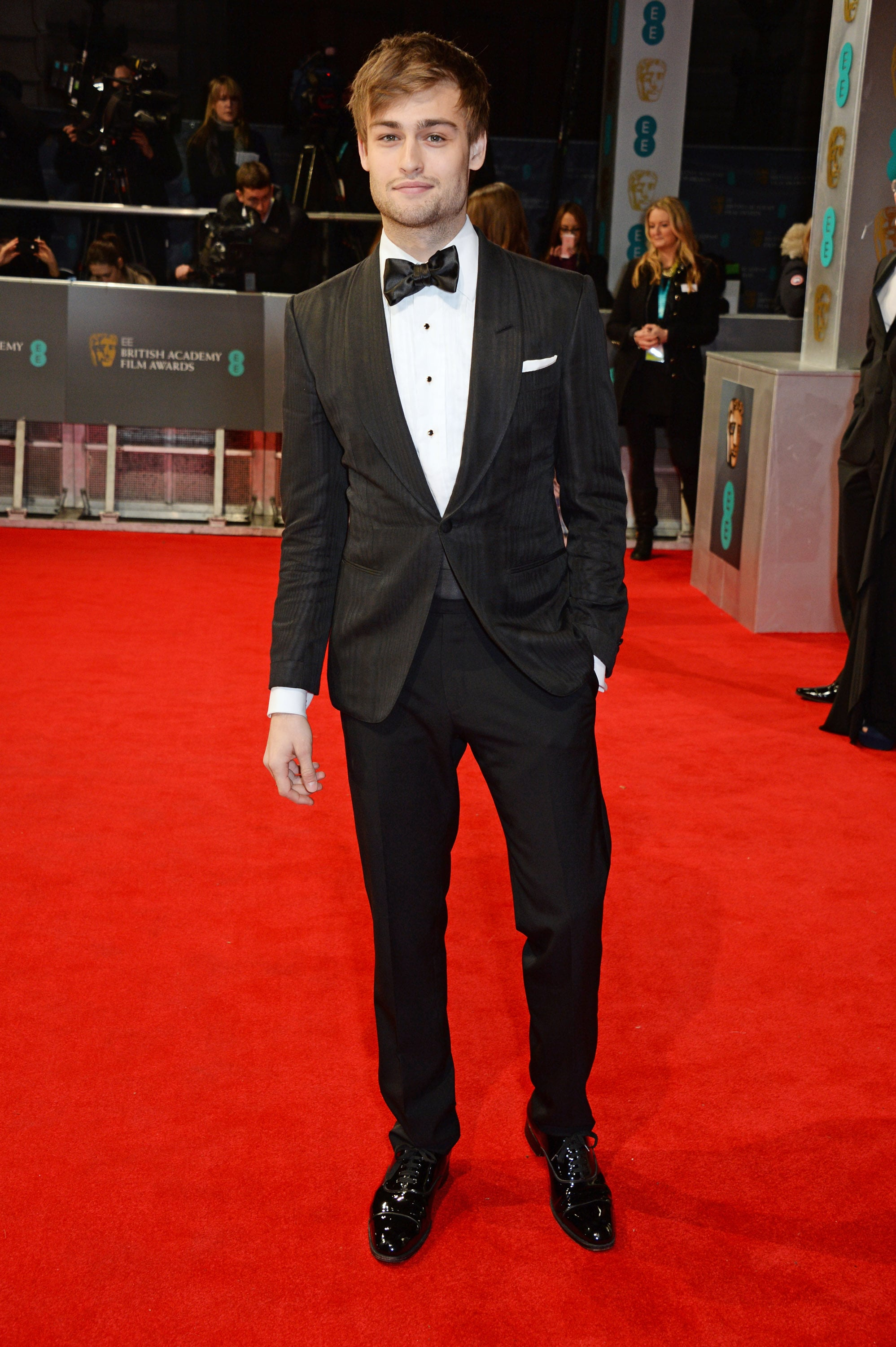 Douglas Booth at the 2014 BAFTA Awards.