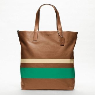 I am in love with what Coach has been doing lately with its men's and women's lines. This Variegated Stripe Reversible Tote ($328), may technically be a men's bag, but it could totally work as a women's tote. It's large enough to hold your books and laptop when you're running from class to class, and the buttery soft leather will only get better as you beat it up a bit.   — Robert Khederian, editorial intern