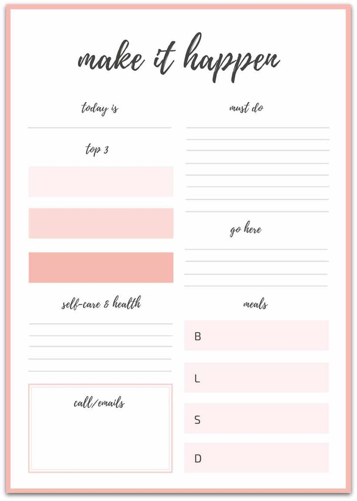 Download: Elle Olive & Co. | Free Printable Goal Sheets ...
