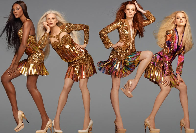 Gold, glitz, and glamour is a signature move for Roberto Cavalli, no matter the season. Source: Fashion Gone Rogue