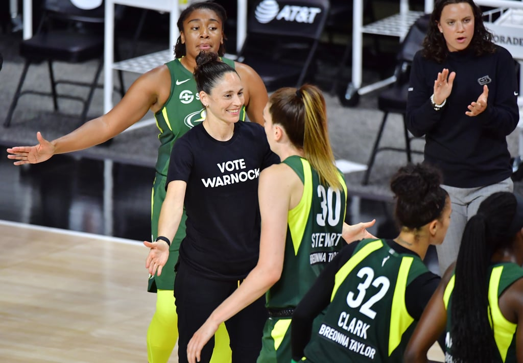WNBA Players Celebrate Raphael Warnock in Georgia Election