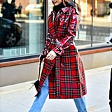 Gigi and Bella Hadid in Matching Burberry Trench Coats