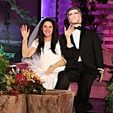 Ellen DeGeneres as Amal and George Clooney in 2014