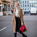 Add a Cropped Top and a Camel Coat