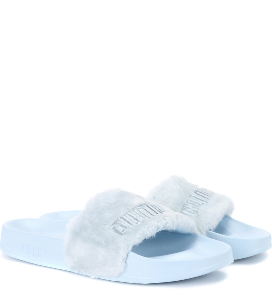 newest 0787b 3ed1d Fenty by Rihanna Faux Fur Slides | How to Wear Athleisure in ...
