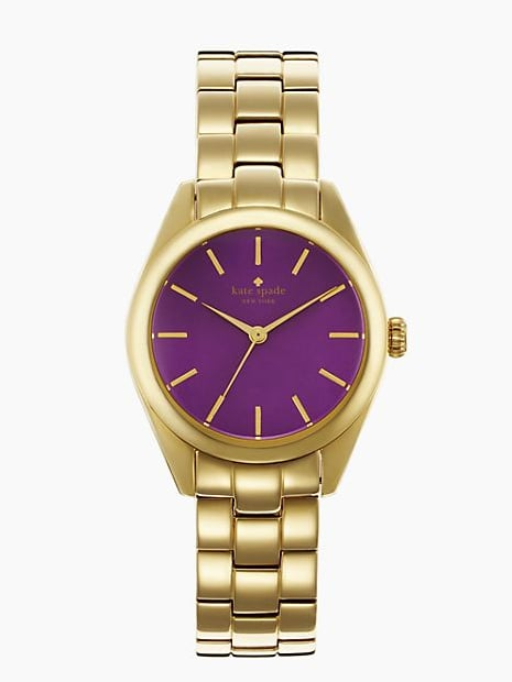 Being on time is always in vogue. Make it easier with this punchy purple-faced menswear-inspired ticker ($112, originally $225).