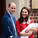 William and Kate Looked Like Rays of Sunshine While Introducing Their New Son