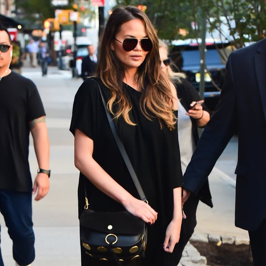 Chrissy Teigen Wearing The Row Black Dress October 2016