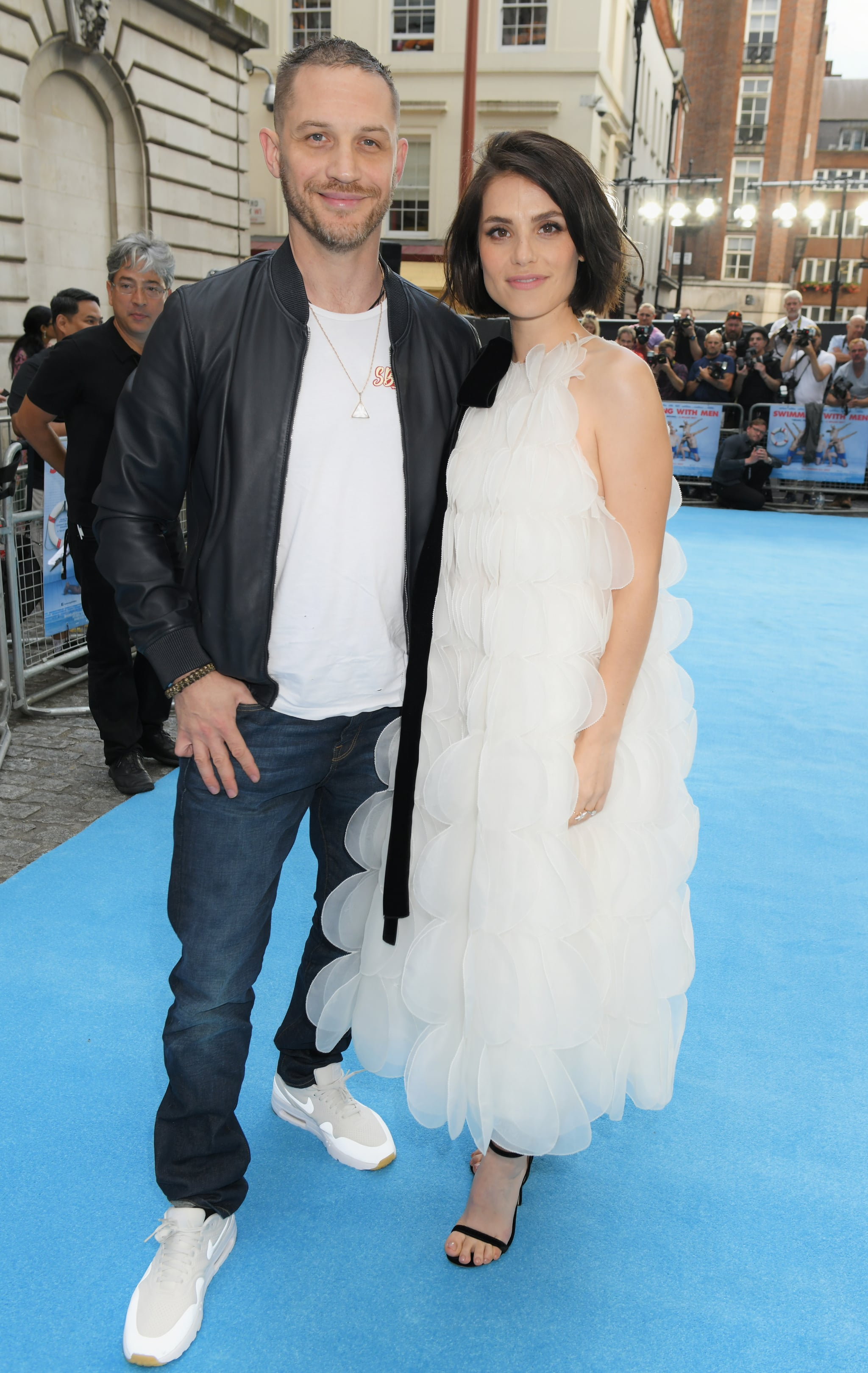 LONDON, ENGLAND - JULY 04:  Tom Hardy (L) and Charlotte Riley attend the UK Premiere of